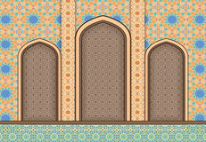 Elements of Islamic architecture ornamental background Stock Photos