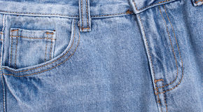 Elements of jeans clothing, space for text Royalty Free Stock Photography