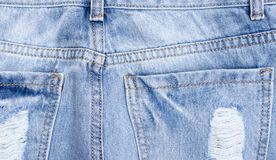 Elements of jeans clothing, space for text Stock Images