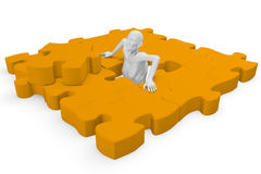 Elements of a jigsaw puzzle Stock Images