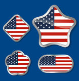 Elements for July 4th. Royalty Free Stock Photos