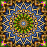 16 elements kaleidoscope Stock Photography