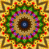 16 elements kaleidoscope. For relax time and meditation Royalty Free Stock Image