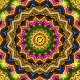 16 elements kaleidoscope. For relax time and meditation Stock Photography