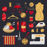 Elements for knitting and sewing. Stock Photography
