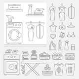 Elements for laundry interior Stock Image