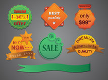 Elements for the layout, crumpled old paper / vector Royalty Free Stock Photography