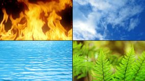 Elements Of Life - Fire, Water, Earth, Air stock video