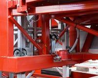 Elements of the lifting platform Stock Photo
