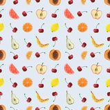 Seamless pattern banana. The elements are made watercolor. It can be used as a print for textiles, a cookbook, a background for a summer menu, packaging for vector illustration