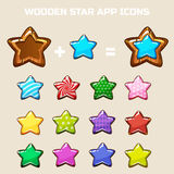 Elements for making your own star, constructor Stock Photo