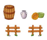Elements manger 3. Illustration of different useful objects to make a manger Royalty Free Stock Photography