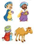 Elements of the manger, the kings Magi stock illustration