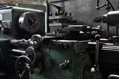 Elements of the metalworking machine. factory and technology stock photos