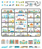 Elements of Modern City - Stock Vector. Elements of modern city. Design your own town. Map elements for your pattern, web site or other type of design Royalty Free Stock Photos