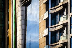 Elements of modern design. Elements of modern exterior design and architecture stock image