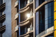 Elements of modern design. Elements of modern exterior design and architecture stock images