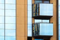 Elements of modern design. Elements of modern exterior design and architecture royalty free stock image