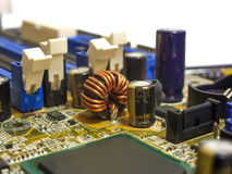 Elements of the motherboard Stock Photos