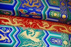Elements Of Chinese Roof Royalty Free Stock Photos