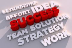 Elements Of Success 3D Stock Photography