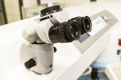 Elements of optical medical devices used in ophthalmology. Health Stock Photography