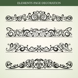 Elements page decoration Royalty Free Stock Images