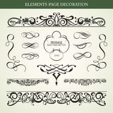 Elements page decoration Royalty Free Stock Image