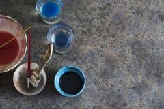 Elements paintbrushes Stock Images
