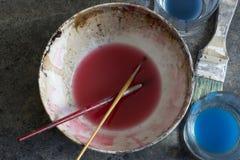 Elements paintbrushes Royalty Free Stock Image