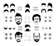 Elements of a person face men Stock Images
