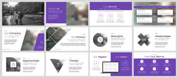 Elements for presentation templates. Use in corporate style, flyer and leaflet, corporate report, marketing, advertising, annual report, banner stock illustration