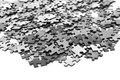 Elements of a puzzle Royalty Free Stock Images