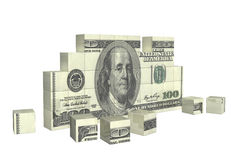 Elements of puzzle with banknote of dollar Royalty Free Stock Image