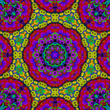 8 elements relax mythical kaleidoscope. 8 elements colored mythical kaleidoscope Stock Photo