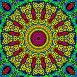 16 elements relax mythical kaleidoscope. 16 elements colored mythical kaleidoscope Royalty Free Stock Photo