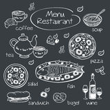 Elements for restaurant menu. Stock Images