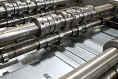 Elements of the rolling mill. Metallurgy, industry royalty free stock photo