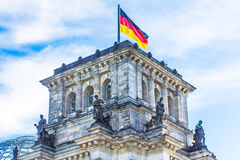 Elements of the roof and towers of the Reichstag. Berlin, German Stock Images