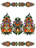 Elements of the Russian ornament Royalty Free Stock Photos
