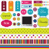 Elements for scrap-booking. Colorful bright elements for scrap-booking Stock Photos