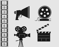 Elements  set for filmmaking Stock Image