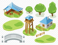 Elements of settlement vector Royalty Free Stock Photography