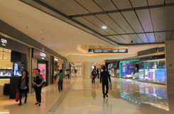 Elements shopping mall Hong Kong. People visit Elements shopping mall in Hong Kong. Elements is a shopping mall located directly above the Kowloon MTR station Royalty Free Stock Image