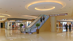 Elements shopping mall interior, hong kong Stock Photos