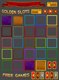 Elements for slots game royalty free illustration