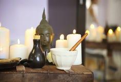 Elements of spa massage Royalty Free Stock Photo