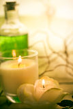 Elements spa treatments scented candles Stock Photos