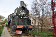 Elements of the steam locomotive Stock Image