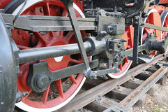Elements of the steam locomotive Royalty Free Stock Photo